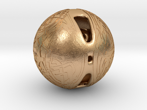 Celtic Knotwork Mythical  Sphere in Natural Bronze