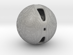 Celtic Knotwork Mythical  Sphere in Aluminum