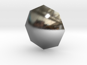 Simple Diamond Shaped model in Polished Silver