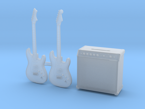 1/35 Stratocaster 2x and Amp MSP35-079 in Smoothest Fine Detail Plastic