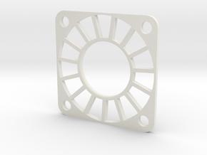 30x30mm Fan Guard in White Natural Versatile Plastic