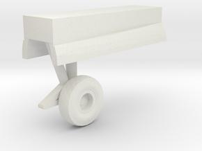 Grumman-E-1B-96Scale-04-MainGear-Left in White Natural Versatile Plastic