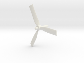Grumman-E-1B-96Scale-06-Propeller in White Natural Versatile Plastic