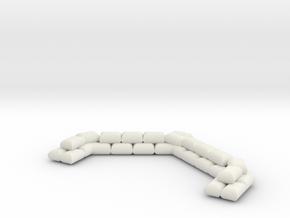 SANDBAGS (Memoir '44 size) in White Natural Versatile Plastic