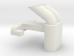 Mini Exhaust Type A in White Natural Versatile Plastic