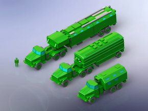 Modern Russian Communication Post Vehicles 1/200 in Smooth Fine Detail Plastic