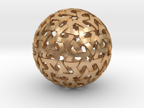 Geodesic Weave in Natural Bronze