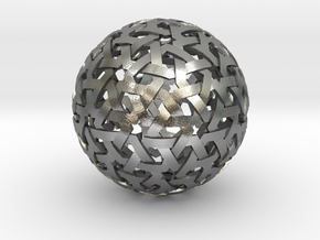 Geodesic Weave in Natural Silver