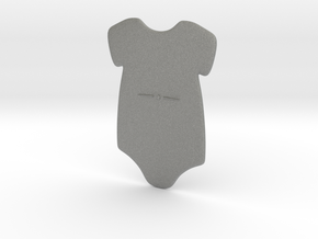 3D Star Onesie in Gray PA12