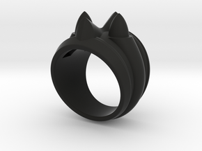 59 Caddy Cat Ring - Size 8 1/2 (18.59 mm) in Black Natural Versatile Plastic