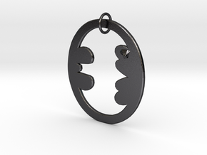 Bat Keychain in Polished and Bronzed Black Steel