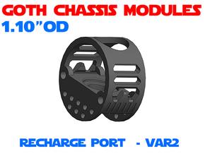 GCM110 - Recharge Port Chassis Var2 in White Natural Versatile Plastic
