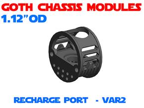 GCM112 - Recharge Port Chassis Var2 in White Natural Versatile Plastic