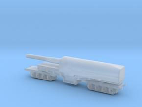 canon de 274 mm mle 1893 1/160 railway artillery  in Smooth Fine Detail Plastic