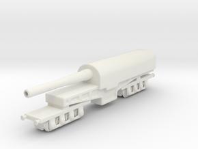 canon de 274 mm mle 1893 1/200 railway artillery  in White Natural Versatile Plastic