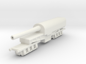 canon de 274 mm mle 1893 1/285 railway artillery  in White Natural Versatile Plastic