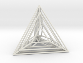 Tetrahedron Experiment in White Natural Versatile Plastic