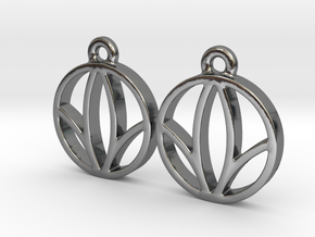 Herbalife Nutrition Earring_V_1.1 in Polished Silver