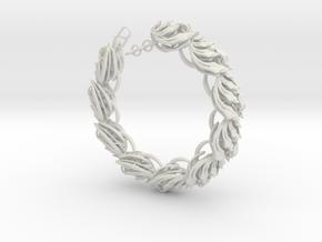 Somaextatic Bead Bracelet in White Premium Versatile Plastic