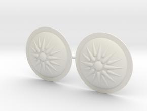 HOPLITE SHIELD VERGINA STAR x2 in White Natural Versatile Plastic