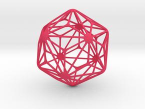 Triakis Icosahedron in Pink Processed Versatile Plastic: Large
