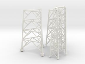 Radio Tower in White Natural Versatile Plastic