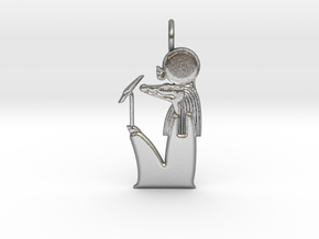 Sobek-Ra amulet in Natural Silver