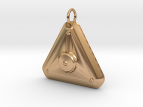 New High Profile MicroTriangular Craft Pendant in Polished Bronze