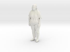 Printle C Femme 076 - 1/12 - wob in White Natural Versatile Plastic
