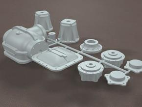 1/8 Toploader Rearend Housing in White Strong & Flexible