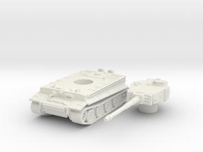 Tiger I (mid) scale 1/100 in White Natural Versatile Plastic