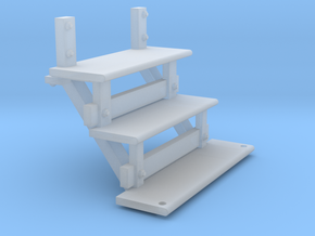 Long caboose steps for stl 2 10 18 in Smooth Fine Detail Plastic