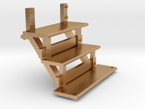 Long caboose steps for stl 2 10 18 in Natural Bronze