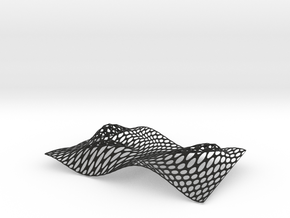 Cracker Tray  in Black Natural Versatile Plastic