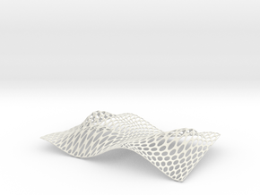 Lace Tray  in White Natural Versatile Plastic