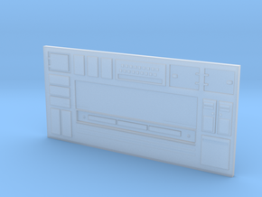 Long Sci-Fi Wall in Smooth Fine Detail Plastic
