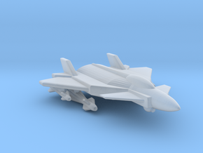 285 Scale Federation F-12 Fast Fighter MGL in Smooth Fine Detail Plastic
