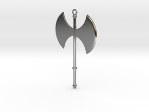 Battle Axe Charm (Pendant) #1 in Polished Silver