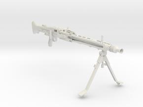 1/3 scale MG42 Machine Gun in White Natural Versatile Plastic