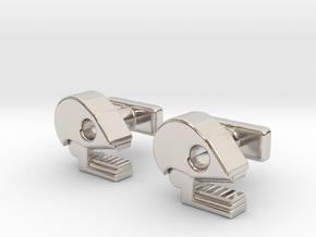 Mictlan cufflinks in Platinum