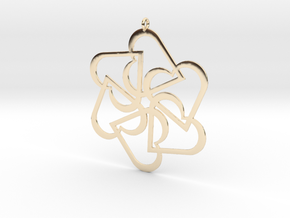 Six Hearts pendant in 14k Gold Plated Brass
