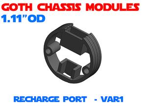 GCM111 - Recharge Port Chassis Var1 in White Natural Versatile Plastic