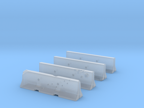 Jersey Barriers Set 4 pieces - undamaged, 28mm sca in Smooth Fine Detail Plastic