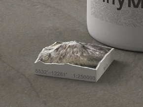 Mt. Adams, Washington, USA, 1:250000 Explorer in Natural Full Color Sandstone