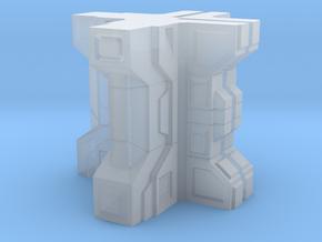Sci fi building module terrain 2 in Smooth Fine Detail Plastic