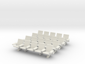 HO Scale Waiting Room Seats 4x5 in White Natural Versatile Plastic