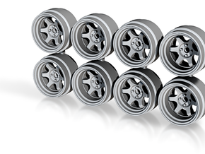 8.6mm TE37V Hot Wheels Rims in Smoothest Fine Detail Plastic