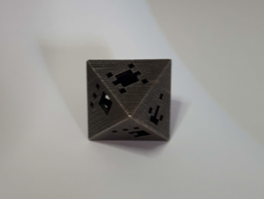 Plato's Octahedron - Idea in Matte Black Steel