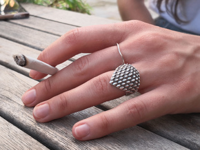Dragonscales Ring Silver in Natural Silver