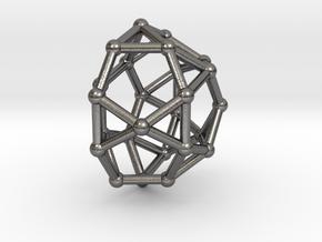 0810 J32 Pentagonal Orthocupolarotunda (a=1cm) #2 in Polished Nickel Steel
